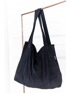 Localattic Tote bag Big Rib Washed Black L