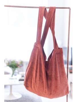 Localattic Tote bag Big Rib Washed Tabacco L