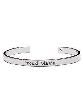 Proud Mama Bangle Bracelet Zilver