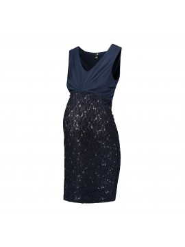 Love2Wait Zwangerschaps Party Dress Navy